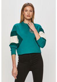 Zielona bluza Undiz długa, bez kaptura