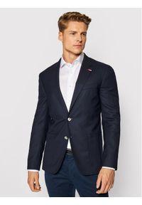 Tommy Hilfiger Tailored Marynarka TT0TT02317 Granatowy Tailored Fit. Kolor: niebieski
