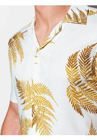 Biała koszula Ombre Clothing krótka, z krótkim rękawem