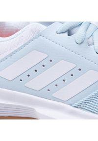 Niebieskie buty do fitnessu Adidas z cholewką