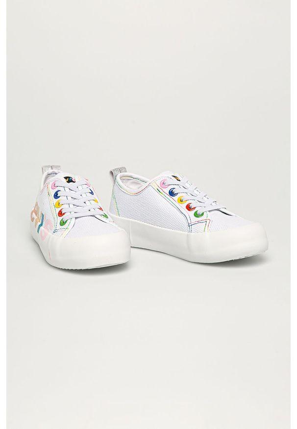 Białe trampki Levi's® z cholewką, na spotkanie biznesowe, w kolorowe wzory