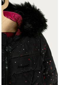 Czarna kurtka Desigual z kapturem, na co dzień, casualowa