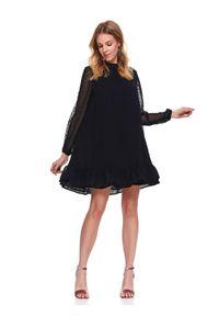 Czarna sukienka TOP SECRET na zimę, mini