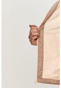 Różowa kurtka columbia raglanowy rękaw, z kapturem, casualowa
