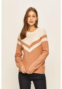 Beżowy sweter Roxy casualowy, z aplikacjami