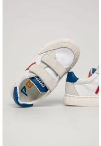 Białe buty sportowe Pepe Jeans z okrągłym noskiem, z cholewką