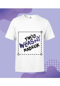 MegaKoszulki - Koszulka męska srandard plus z własnym nadrukiem. Materiał: materiał. Długość: długie. Wzór: nadruk