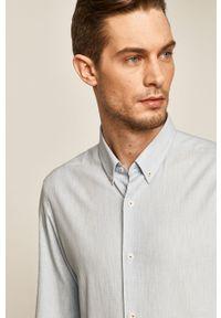 Niebieska koszula medicine casualowa, na co dzień, długa, button down