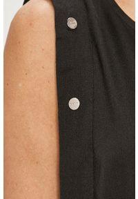 Czarna bluzka DKNY bez rękawów, na co dzień