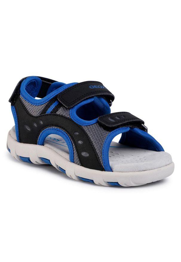 Czarne sandały Geox na lato, klasyczne
