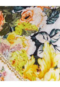 Camilla - CAMILLA - Lniane szorty w kwiaty. Okazja: na co dzień. Stan: podwyższony. Kolor: żółty. Materiał: len. Wzór: kwiaty. Sezon: lato. Styl: casual