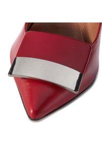 Czerwone półbuty QUAZI eleganckie, z aplikacjami, z cholewką