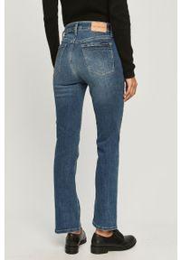 Niebieskie jeansy bootcut Calvin Klein Jeans z podwyższonym stanem