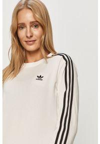 Biała bluzka z długim rękawem adidas Originals casualowa, na co dzień