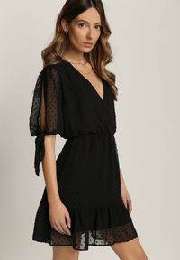 Renee - Czarna Sukienka Alethophai. Kolor: czarny