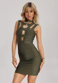 Renee - Ciemnozielona Sukienka Nahlora. Kolor: zielony