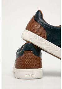 Niebieskie sneakersy Aldo na sznurówki, z okrągłym noskiem, z cholewką