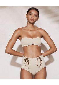 MARYSIA SWIM - Top od bikini Santa Monica. Kolor: beżowy. Materiał: tkanina