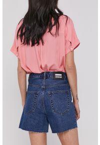 Dr. Denim - Szorty jeansowe. Okazja: na co dzień. Kolor: niebieski. Materiał: jeans, denim. Wzór: gładki. Styl: casual