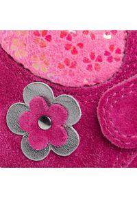 Różowe sandały Superfit z aplikacjami