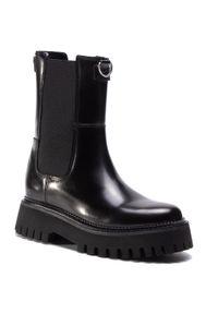 Czarne buty trekkingowe Bronx
