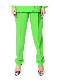 AGGI - Neonowo zielone spodnie w kant Blake. Stan: podwyższony. Kolor: zielony. Styl: sportowy