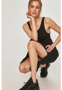 Czarna sukienka Calvin Klein Jeans na co dzień, na ramiączkach, dopasowana
