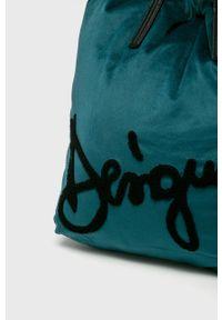 Zielona torebka Desigual na ramię, duża