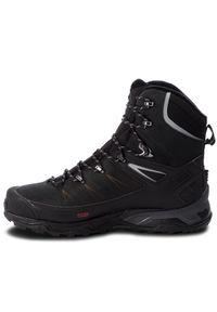 Czarne buty trekkingowe salomon trekkingowe, Thinsulate